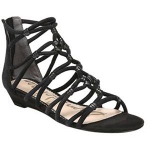 Sam Edelman Daryn Gladiator Sandals Black 7.5